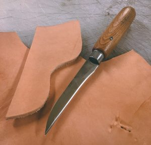leather trim knife