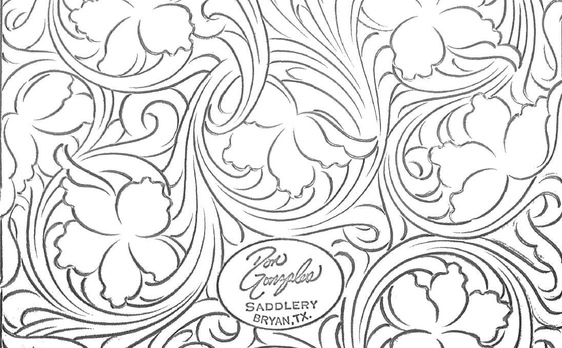 Portfolio Floral Pattern Don Gonzales Saddlery