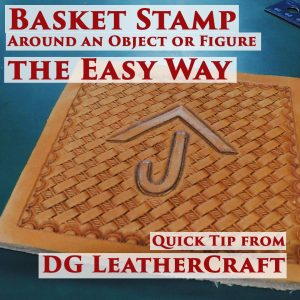 basket stamp leather