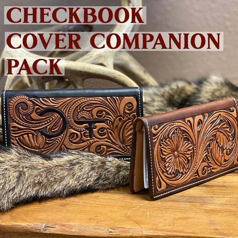 Leather checkbook protector