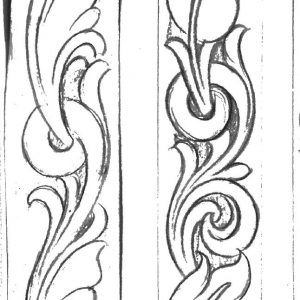 photo regarding Free Printable Leather Belt Tooling Patterns named Tooling Styles For Sale Archives - Dress in Gonzales Saddlery