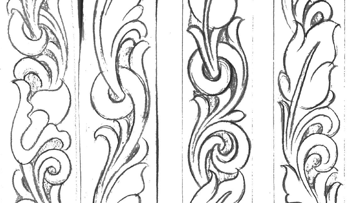 image relating to Printable Leather Tooling Patterns named Leather-based Belt Tooling Behaviors